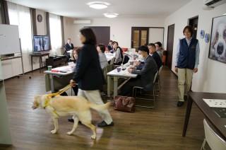 盲導犬ユーザーの案内方法の一つ